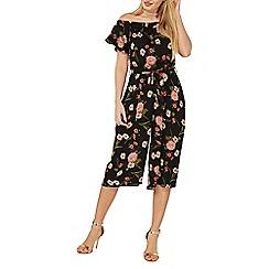 Dorothy Perkins - Black floral print bardot jumpsuit