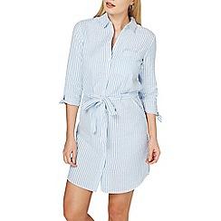 Dorothy Perkins - Blue textured shirt dress