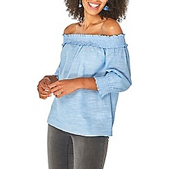 d485b3c3a0336 Long sleeves - blue - Cold shoulder   bardot - Tops - Women