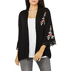 Dorothy Perkins - Black embroidered lace cuff kimono