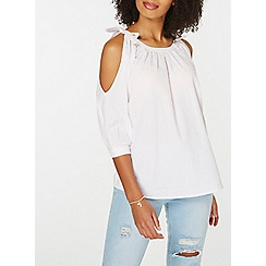 Dorothy Perkins - Pink and white textured top