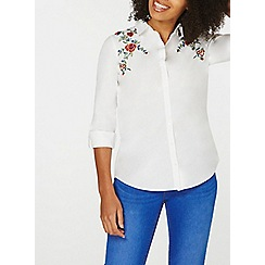 Dorothy Perkins - White trailing embroidered shirt
