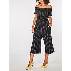 Dorothy Perkins - Black and white spot print jumpsuit