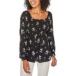 Dorothy Perkins - Black floral print top