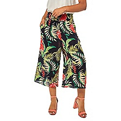 Dorothy Perkins - Navy tropical print culotte trousers