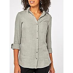 Dorothy Perkins - Grey marl plain shirt