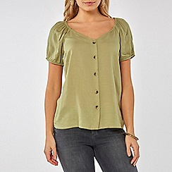 Dorothy Perkins - Khaki button through top