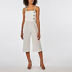 Dorothy Perkins - Ivory linen jumpsuit