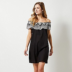 Dorothy Perkins - Black Broderie Frill Dress