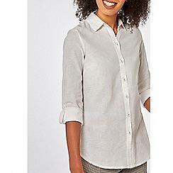 Dorothy Perkins - Ivory linen shirt