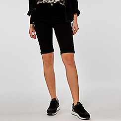 Dorothy Perkins - Black denim shaping knee shorts