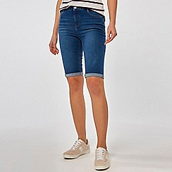 Dorothy Perkins - Indigo shaping knee shorts