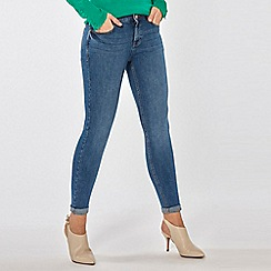 Dorothy Perkins - Midwash Harper Low Rise Stretch Skinny Jeans