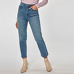 Dorothy Perkins - Midwash Billie High Waisted Straight Leg Denim Jeans