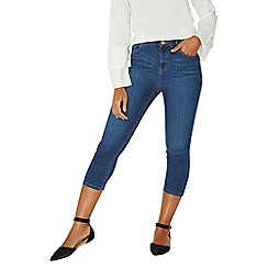 Dorothy Perkins - Mid wash shape and lift crop jeans