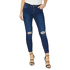Dorothy Perkins - Indigo authentic 'darcy' rip knee jeans