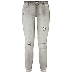 Dorothy Perkins - Silver grey darcy abrasion ankle grazer jeans