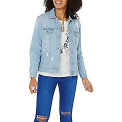 Dorothy Perkins - Bleach oversize rip denim jacket