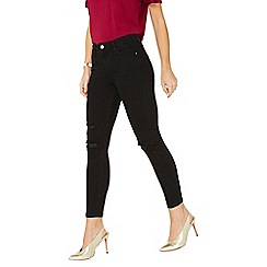 Dorothy Perkins - Black darcy knee rip jeans