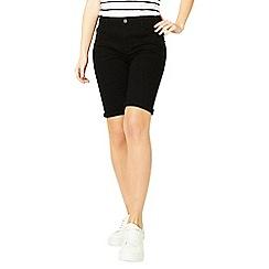 Dorothy Perkins - Black knee denim shorts