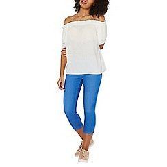 Dorothy Perkins - Bright blue eden cropped jeggings