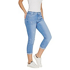 Dorothy Perkins - Ice blue corey crop jeans