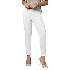 Dorothy Perkins - White harper skinny jeans