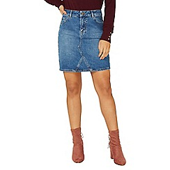 Dorothy Perkins - Mid wash denim mini skirt
