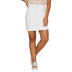 Dorothy Perkins - White rework denim mini skirt