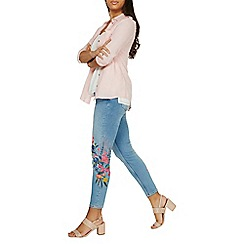 Dorothy Perkins - Blue darcy floral embroidered jeans