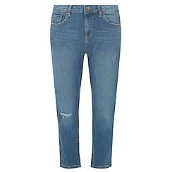 Dorothy Perkins - Mid wash taylor cropped cigarette jeans