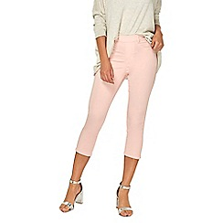 Dorothy Perkins - Pale pink eden cropped jeans