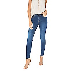 Dorothy Perkins - Rich blue mid rise bailey super skinny stretch jeans
