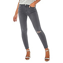 Dorothy Perkins - Grey ripped darcy ankle grazer jeans