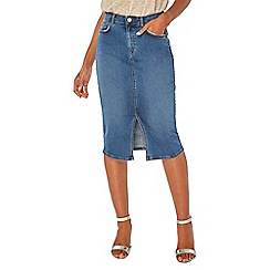 Dorothy Perkins - Blue mid wash pencil skirt