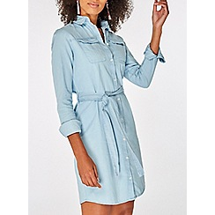 Dorothy Perkins - Bleached denim shirt dress