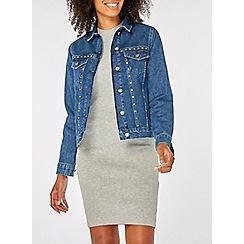 Dorothy Perkins - Blue stud-embellished denim jacket