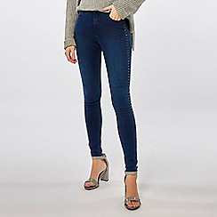 Dorothy Perkins - Indigo stud side denim bailey jeans