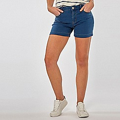 Dorothy Perkins - Mid Wash Entry Denim Shorts