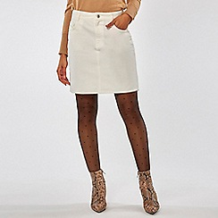 Dorothy Perkins - White denim mini skirt