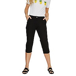 Dorothy Perkins - Black poplin cropped trousers