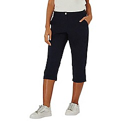 Dorothy Perkins - Navy poplin cropped trousers