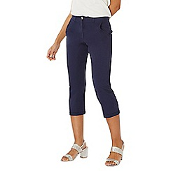 Dorothy Perkins - Navy frill pocket crop chinos