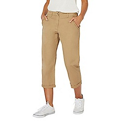 Dorothy Perkins - Tan frill pocket cropped chinos