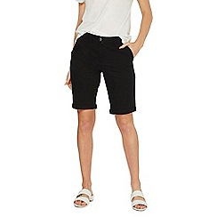 Dorothy Perkins - Black poplin knee shorts
