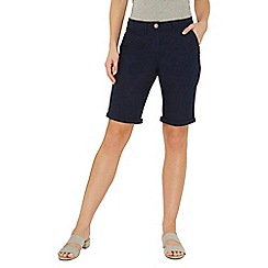 Dorothy Perkins - Navy poplin knee shorts