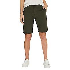 Dorothy Perkins - Khaki poplin knee shorts