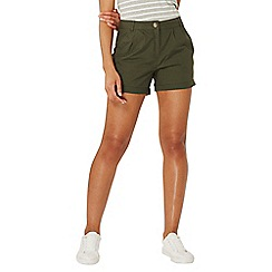 Dorothy Perkins - Khaki poplin shorts