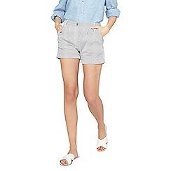 Dorothy Perkins - Navy striped poplin shorts