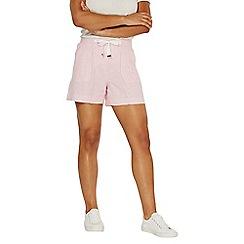 Dorothy Perkins - Pink striped chambray shorts